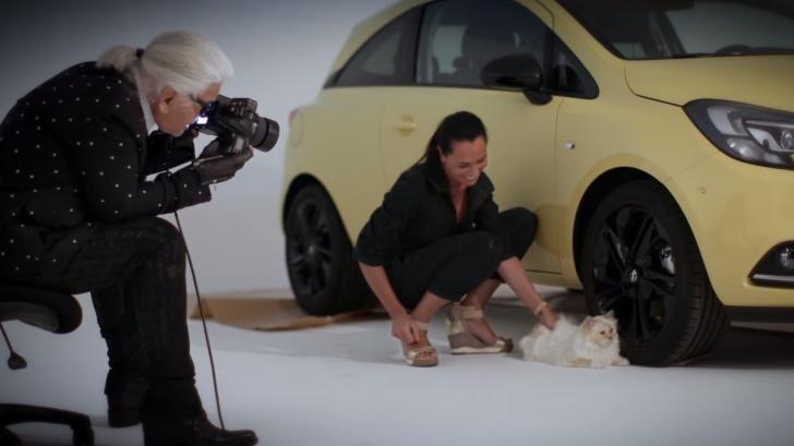 Karl Lagerfeld si Opel Corsa